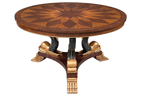 Hollywood Regency-Style Center Table