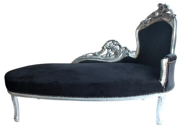 19th-C.  French Chaise Longue