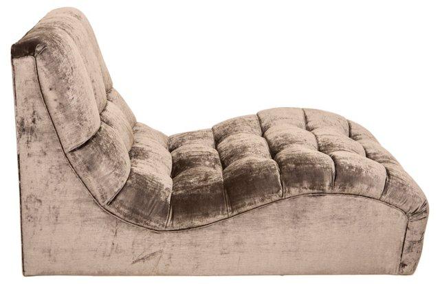 Midcentury Velvet Chaise Longue