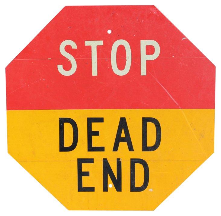 Stop Dead End Sign
