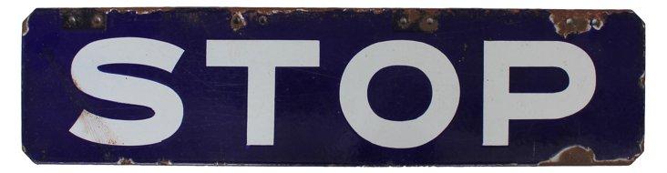 1930s Porcelain Stop Sign