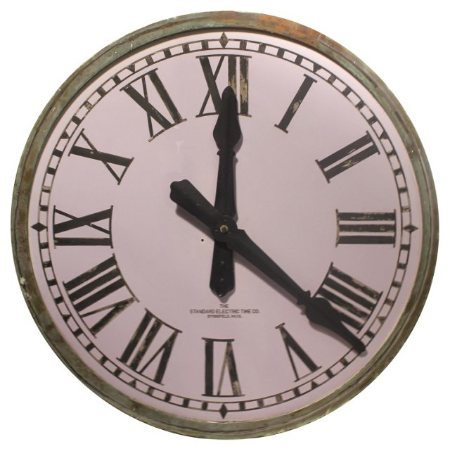 1900s American Tower Clock Face