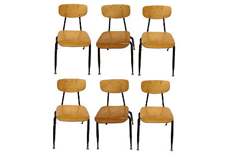 Midcentury Chairs, Set of 6