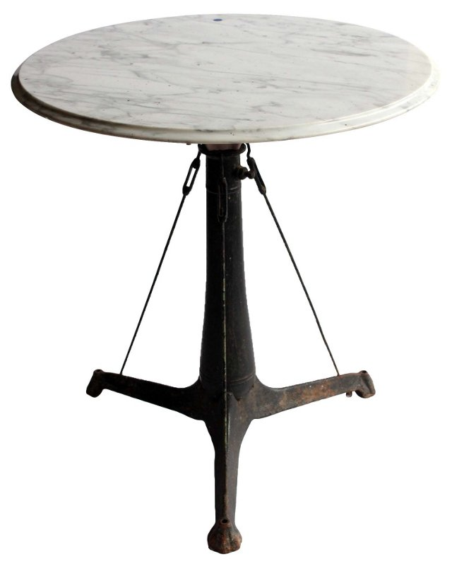 Antique Iron & Marble Table