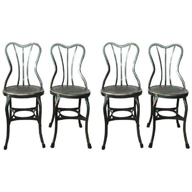 1930s Toledo Metal Chairs, S/4