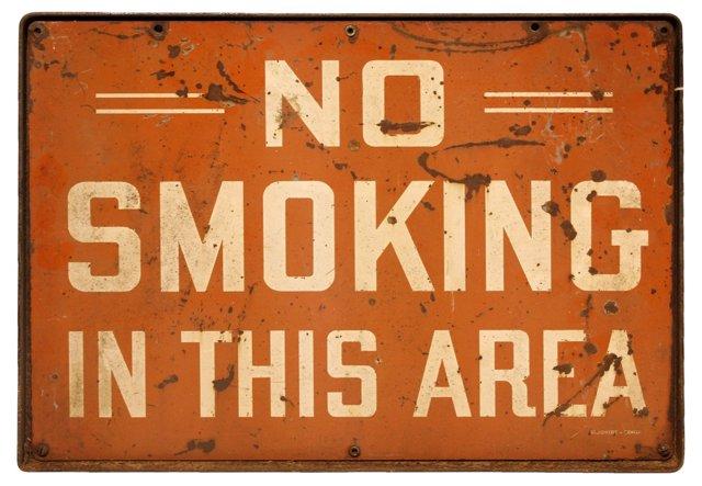 1930s    No Smoking Sign