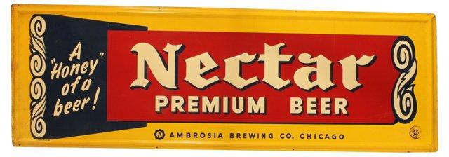 1950s Nectar Premium Beer Sign