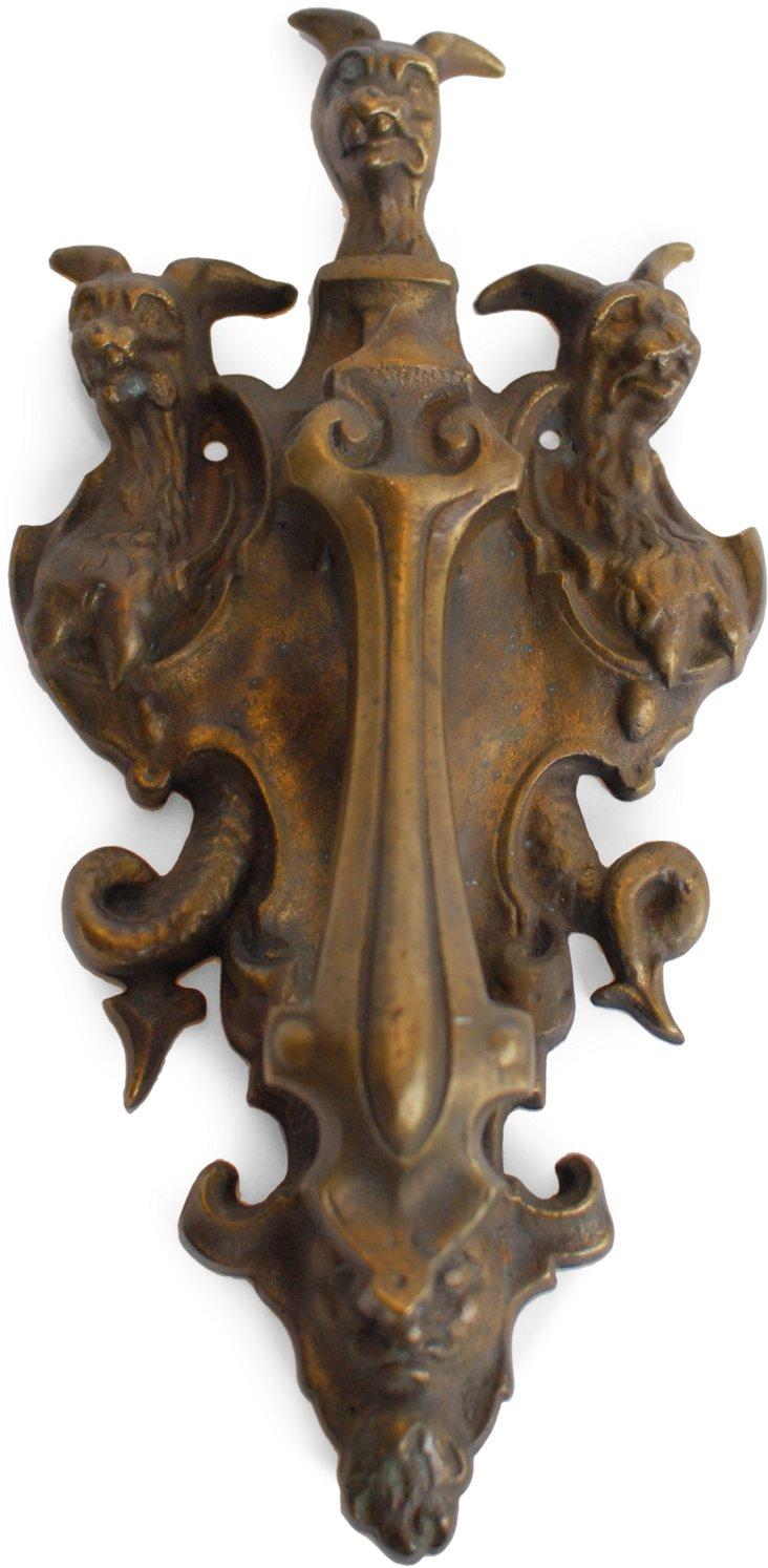 Antique Brass Doorknocker