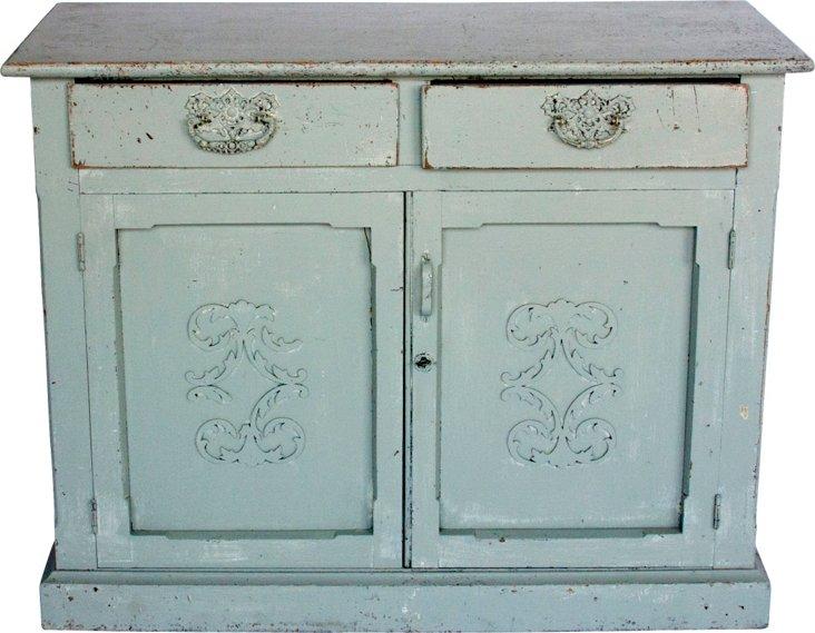 Gray Swedish-Style Cabinet