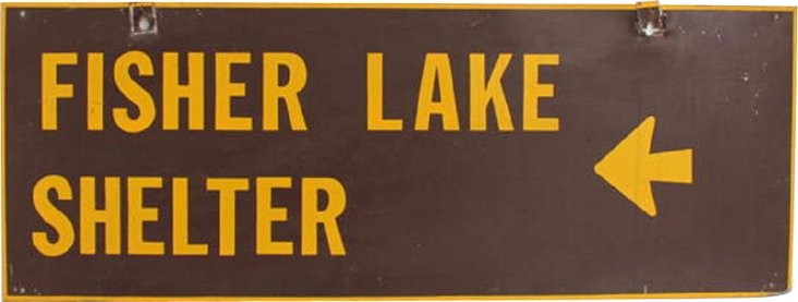 Fisher Lake Shelter Sign