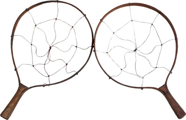 Antique Wooden Rackets, Pair