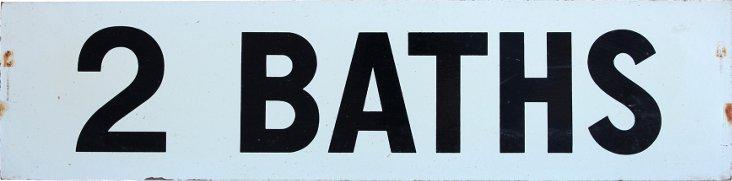 Lake Cabin Sign, 2 Baths