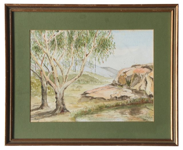Watercolor by Arthur Hemsley