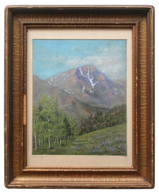 Pastel of Mountains