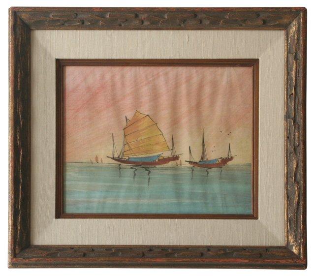 Ships at Sunset