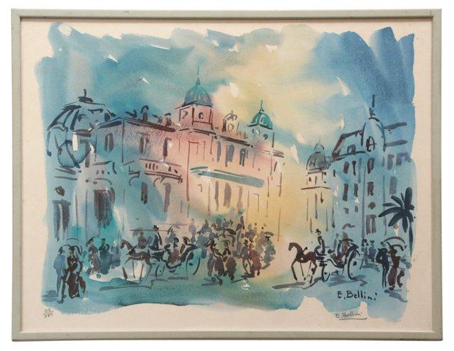 City Scene by E. Bellini