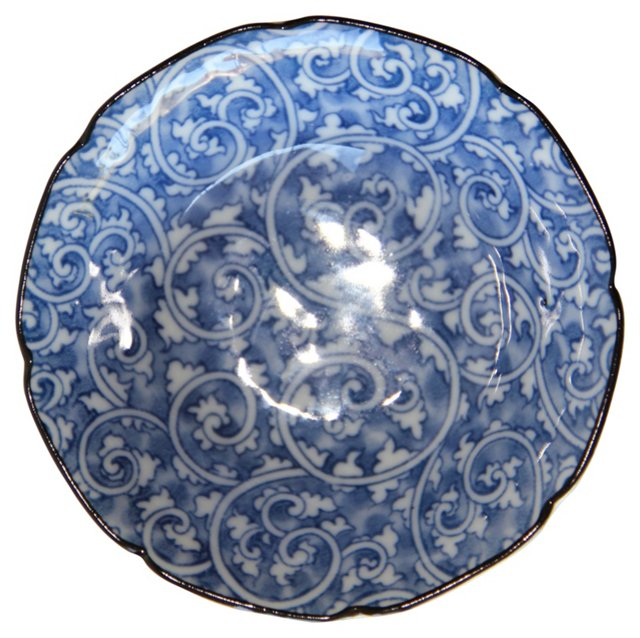 Blue & White Plate & Bowl