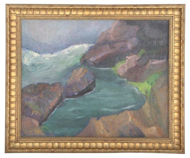 River Scene by E.R. Lord