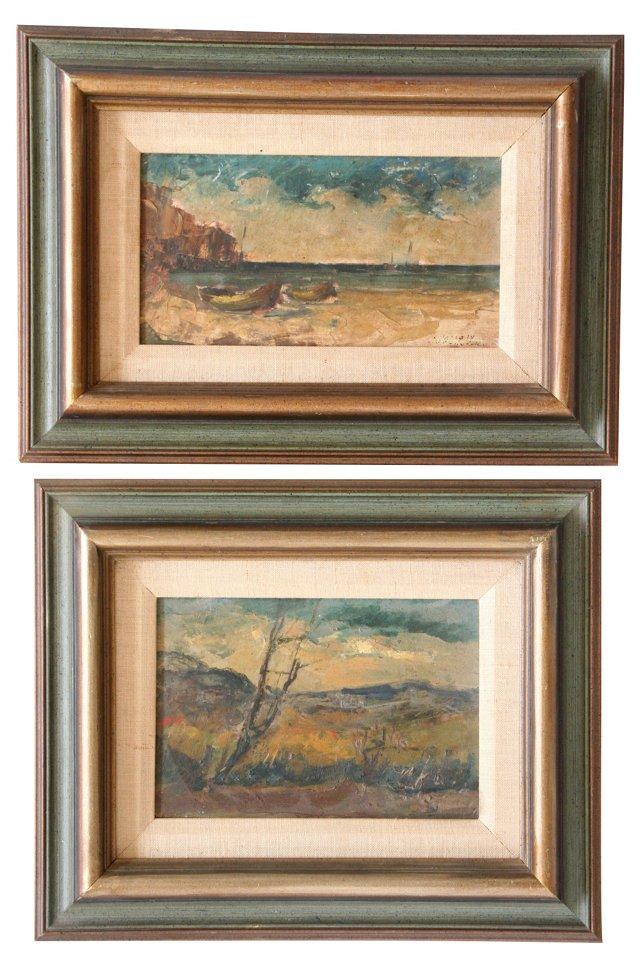 Landscapes,     Pair
