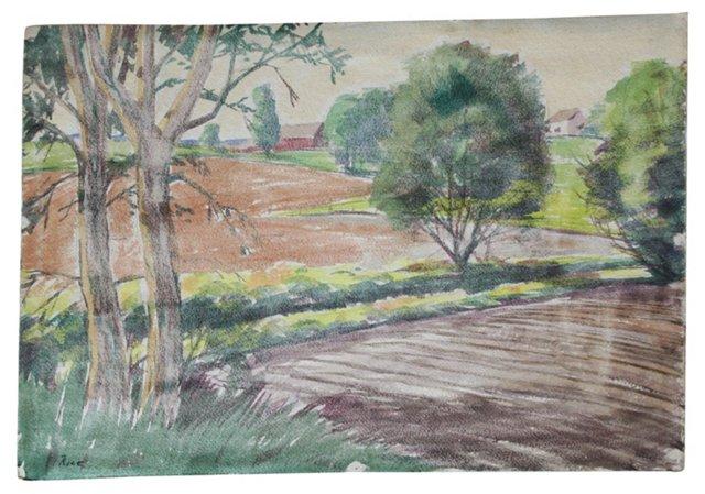 Watercolor Landscape (2-Sided)
