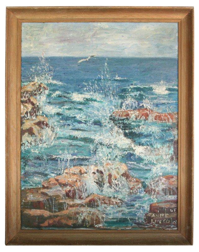 Seascape by Anne Lincoln, 1965