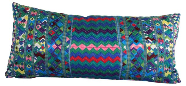 Hand-Embroidered Pillow