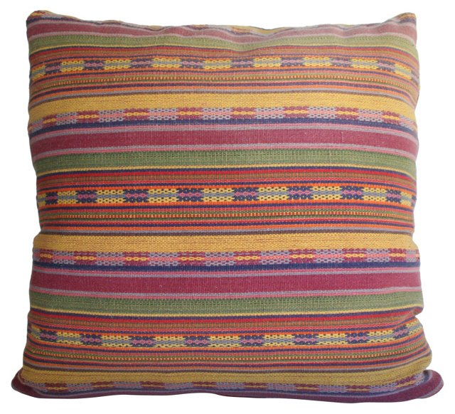Striped Guatemalan  Pillow