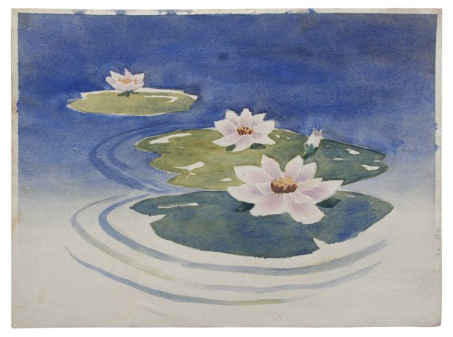 2-Sided Lily Pond & Winter Scene