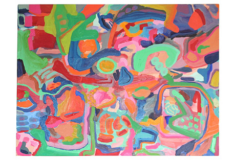 Large Vibrant Abstract