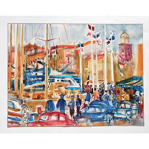 St. Tropez by Pierre Gaillardot, 1950