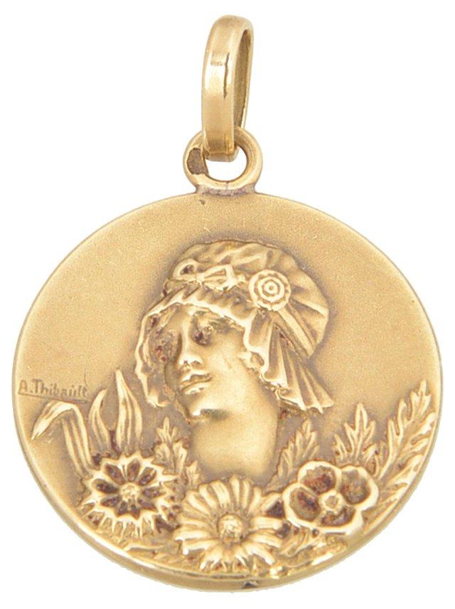 Art Nouveau Lady Pendant