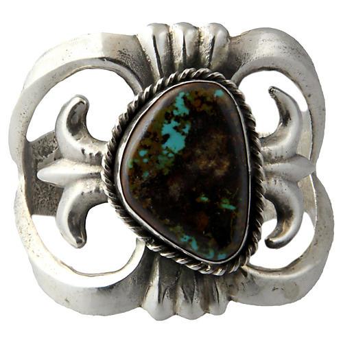 Native American-Style Silver Cuff