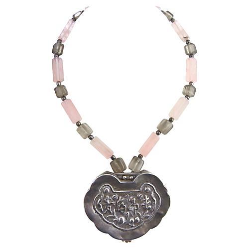 Asian Silver & Quartz Necklace