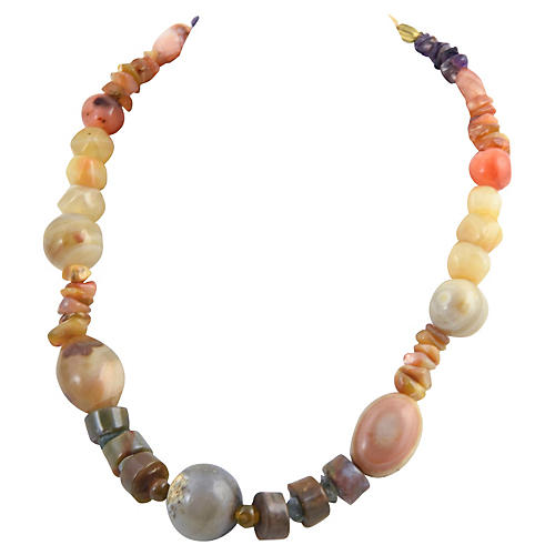 Agate & Amethyst Gemstone Necklace