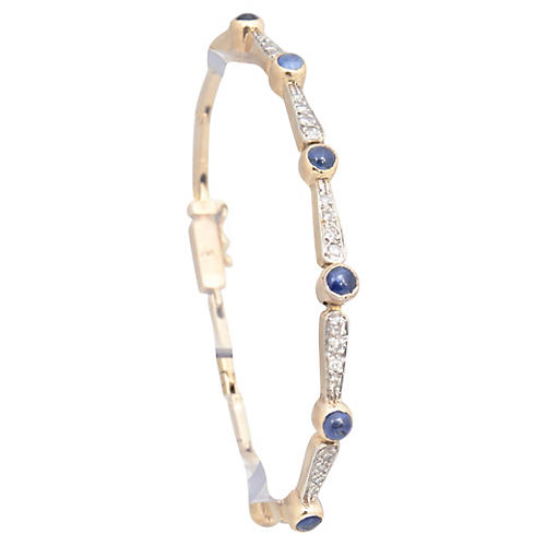 Antique Diamond & Sapphire Bracelet