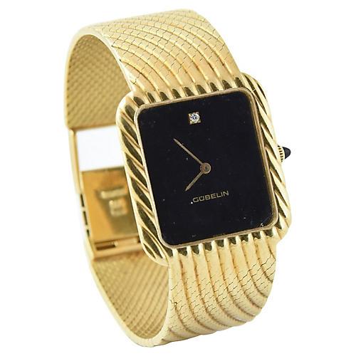 1960s Gubelin Gold Wave Watch