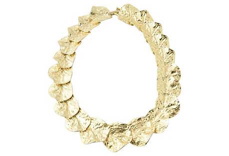 Cleopatra-Style Gold Leaf Necklace