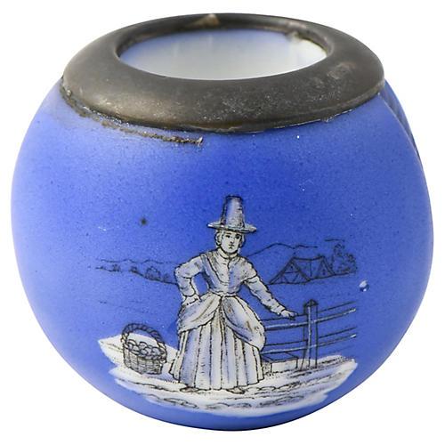 Blue Porcelain Match Striker