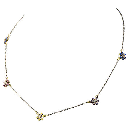 Daisy 14K White Gold Necklace