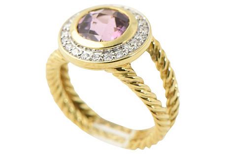 Yurman Amethyst & Diamond Gold Ring