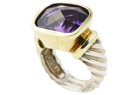 Yurman Gold, Silver & Amethyst Ring