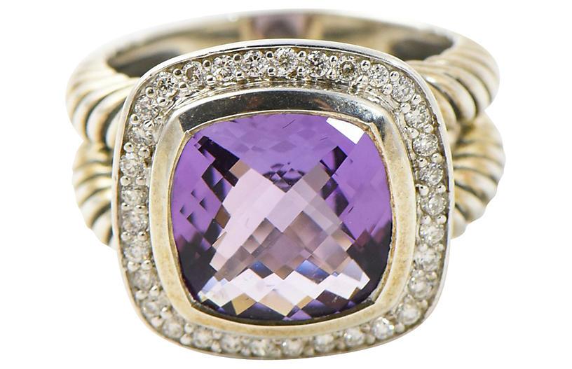 Yurman Albion Diamond & Amethyst Ring