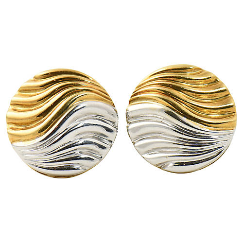 Neiman Marcus Two-Tone Gold Earrings