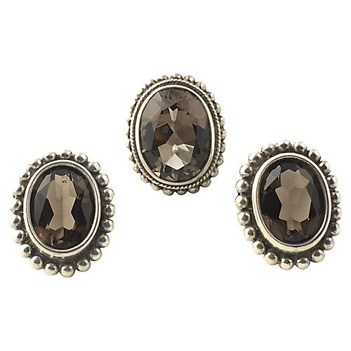 Stephen Dweck Topaz Earrings & Ring Set