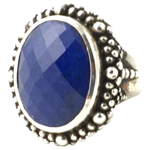 Dweck Sodalite & Silver Cocktail Ring
