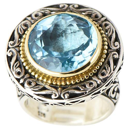Konstantino Topaz Gold & Sterling Ring