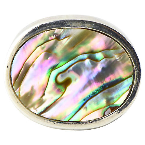Barry Brinker Abalone Shell Ring