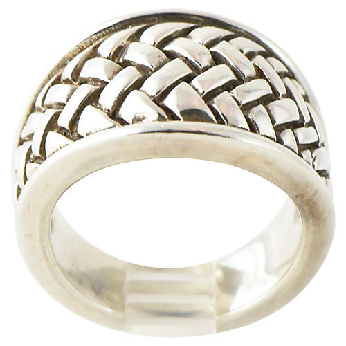 Kieselstein Cord Sterling Weave Ring