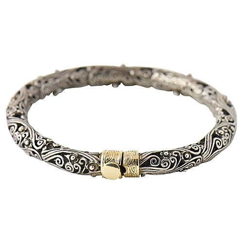Sterling & Gold Filigree Bracelet