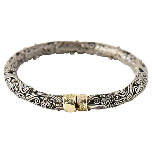 Sterling & Gold Filigree Bracelet